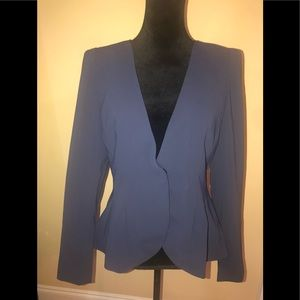 Shape FX blue one snap close blazer size 12